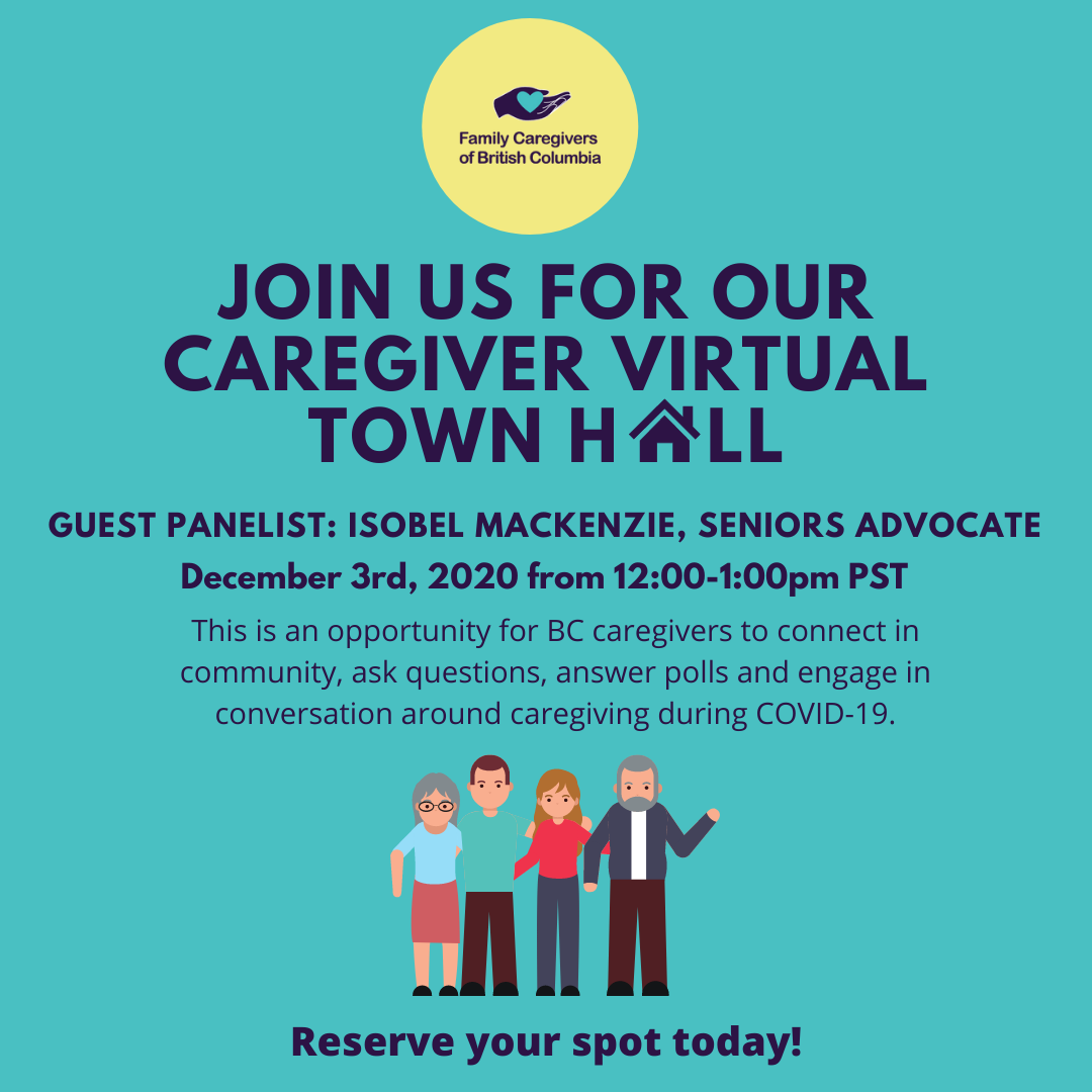 Join the Seniors Advocate to discuss the impact of COVID-19 in a virtual Town Hall